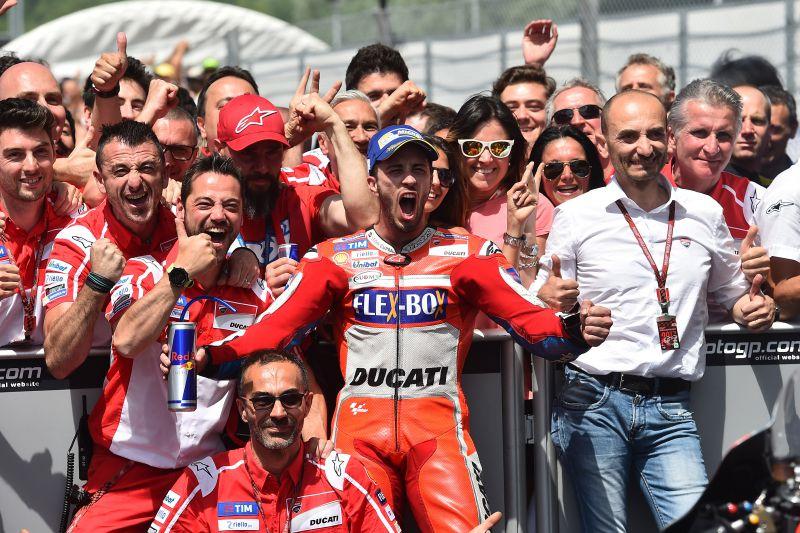★MotoGP2017イタリアGP 優勝ドヴィツィオーゾ「Ducatiでムジェロで優勝する以上の事は望めない」
