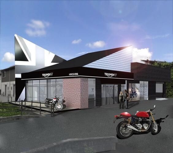 ★トライアンフ広島 最新デザイン店舗を移転リニューアル・オープン