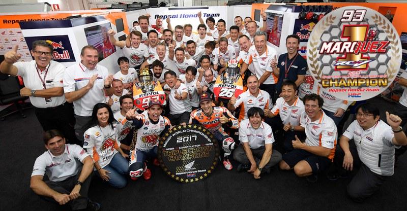 ★「マルク・マルケス」がFIMロードレース世界選手権MotoGPクラスで2年連続チャンピオンを獲得、コンストラクターズ、チームの三冠も達成