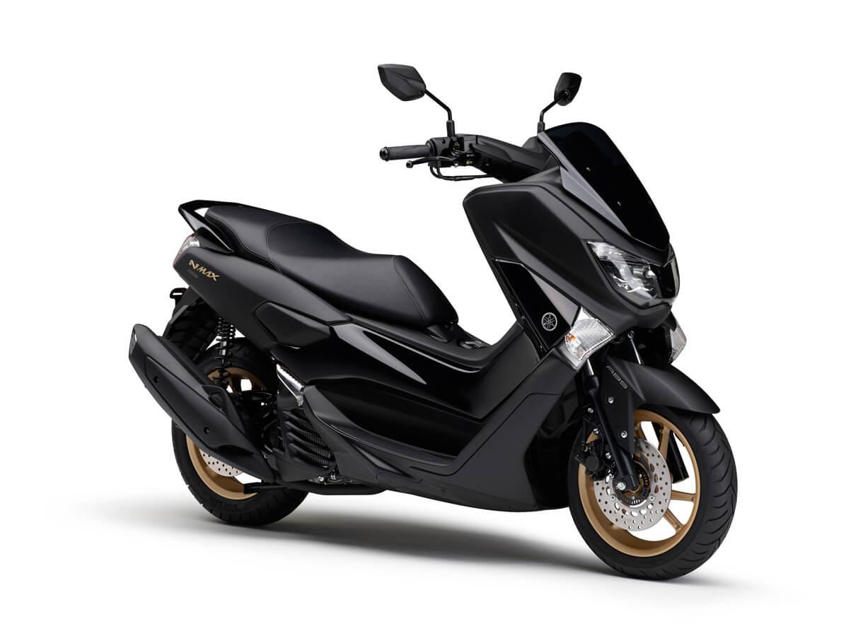 ★ヤマハ マットブラックとゴールドホイールの組み合わせなど 高級感をさらに強調 155cm3スクーター「NMAX155 ABS」のカラーリングを変更