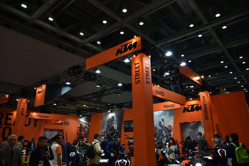 ★第45回東京モーターサイクルショー KTMブース