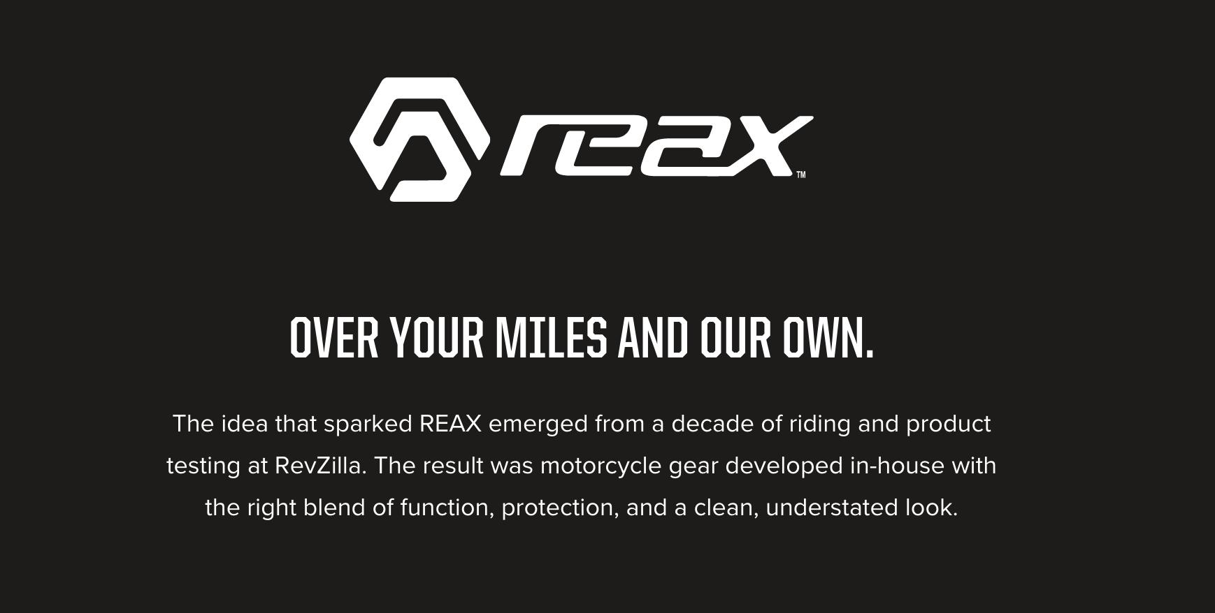 ★アメリカの大手バイク用品サイトRevZilla 自社アパレルブランド「REAX」を立ち上げ