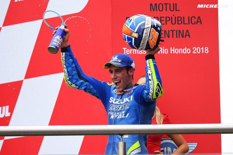 ★MotoGP2018アルゼンチンGP 3位アレックス・リンス「スタート前は本当にナーバスだった」