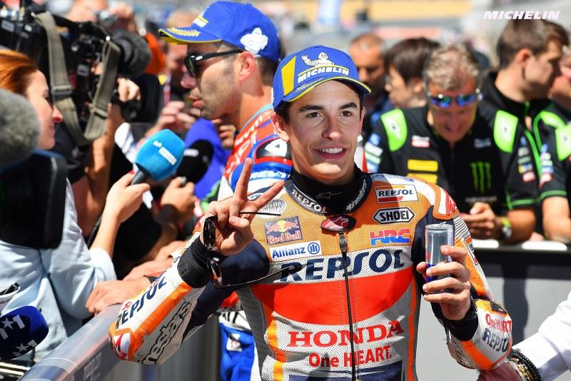 ★MotoGP2018フランスGP 予選2位マルケス「表彰台争いは厳しい戦いになる」