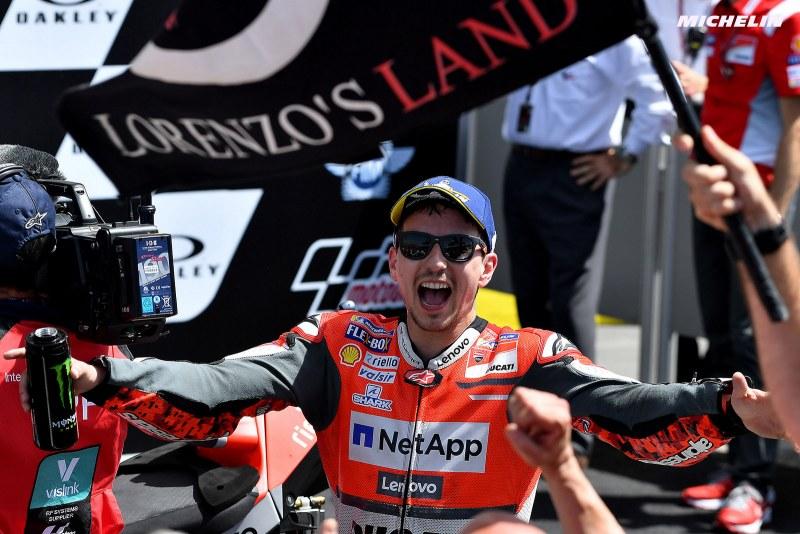 ★MotoGP2018イタリアGP 優勝ロレンソ「この先2年間はDucati以外のバイクに乗る」