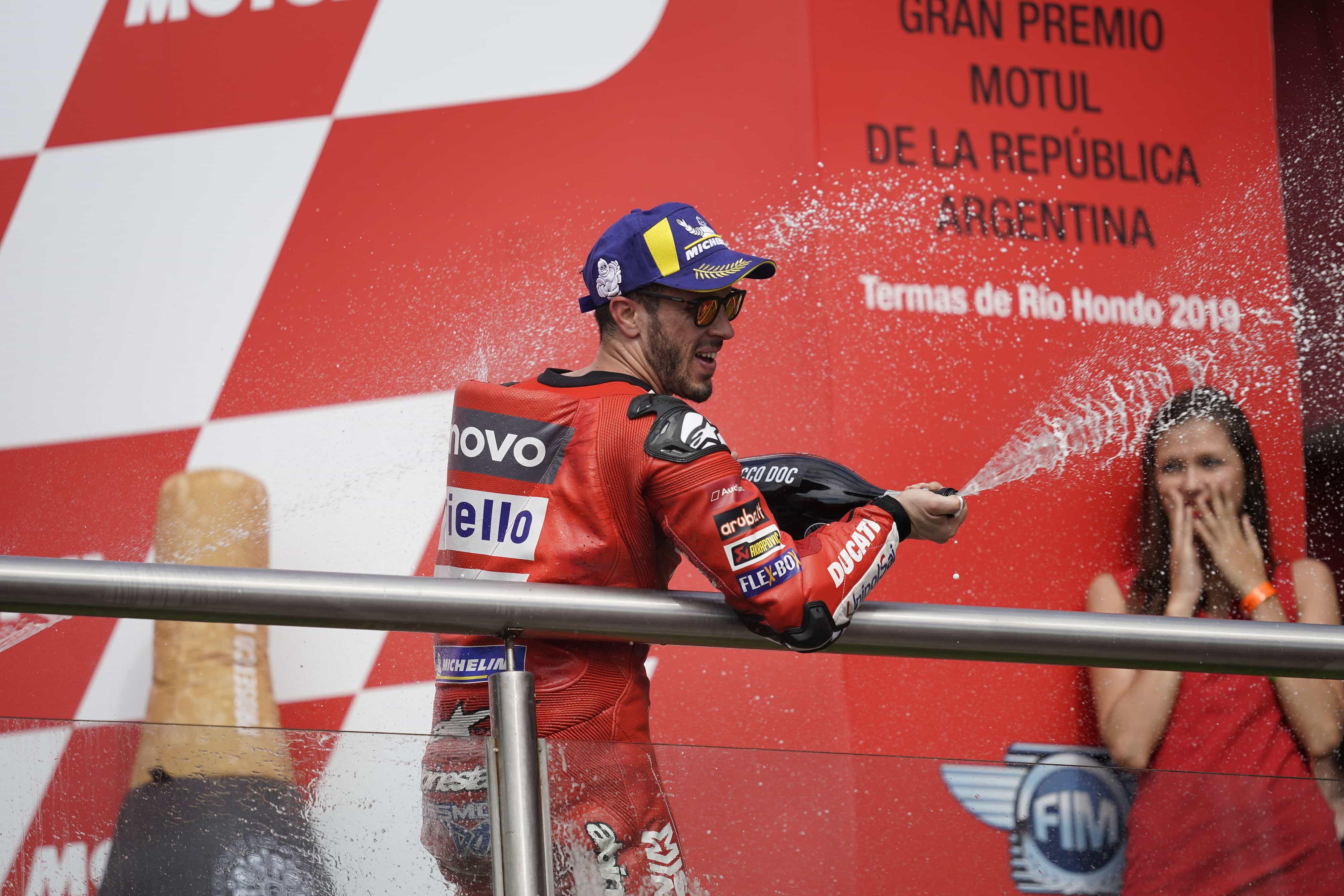 MotoGP第2戦のアルゼンチンGPで、Mission Winnow Ducatiチームのドヴィツィオーゾが3位表彰台を獲得、ペトルッチは6位