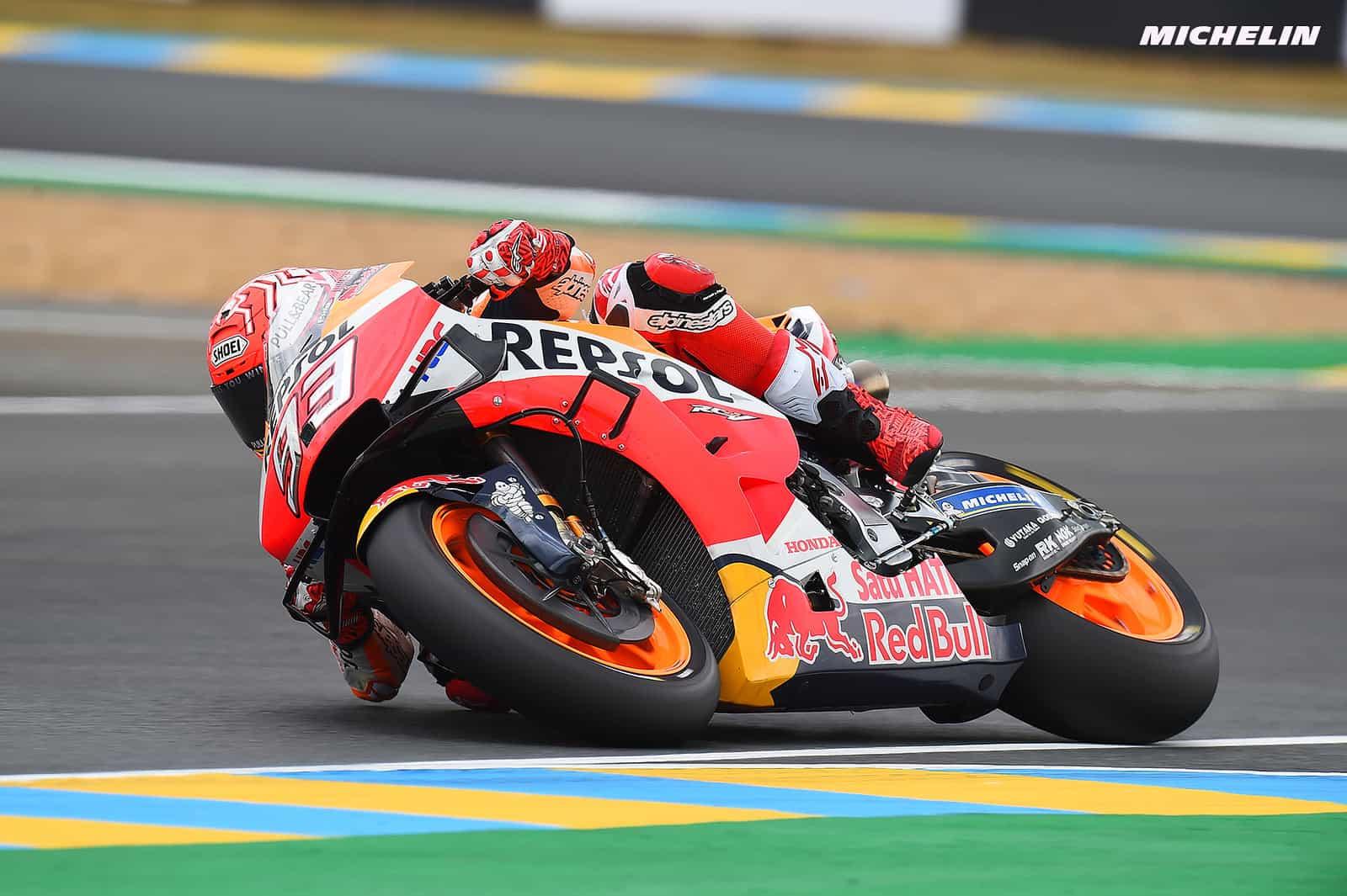 MotoGP2019フランスGP マルク・マルケス「明日の天候を考えてFP2で新品タイヤを使用した」