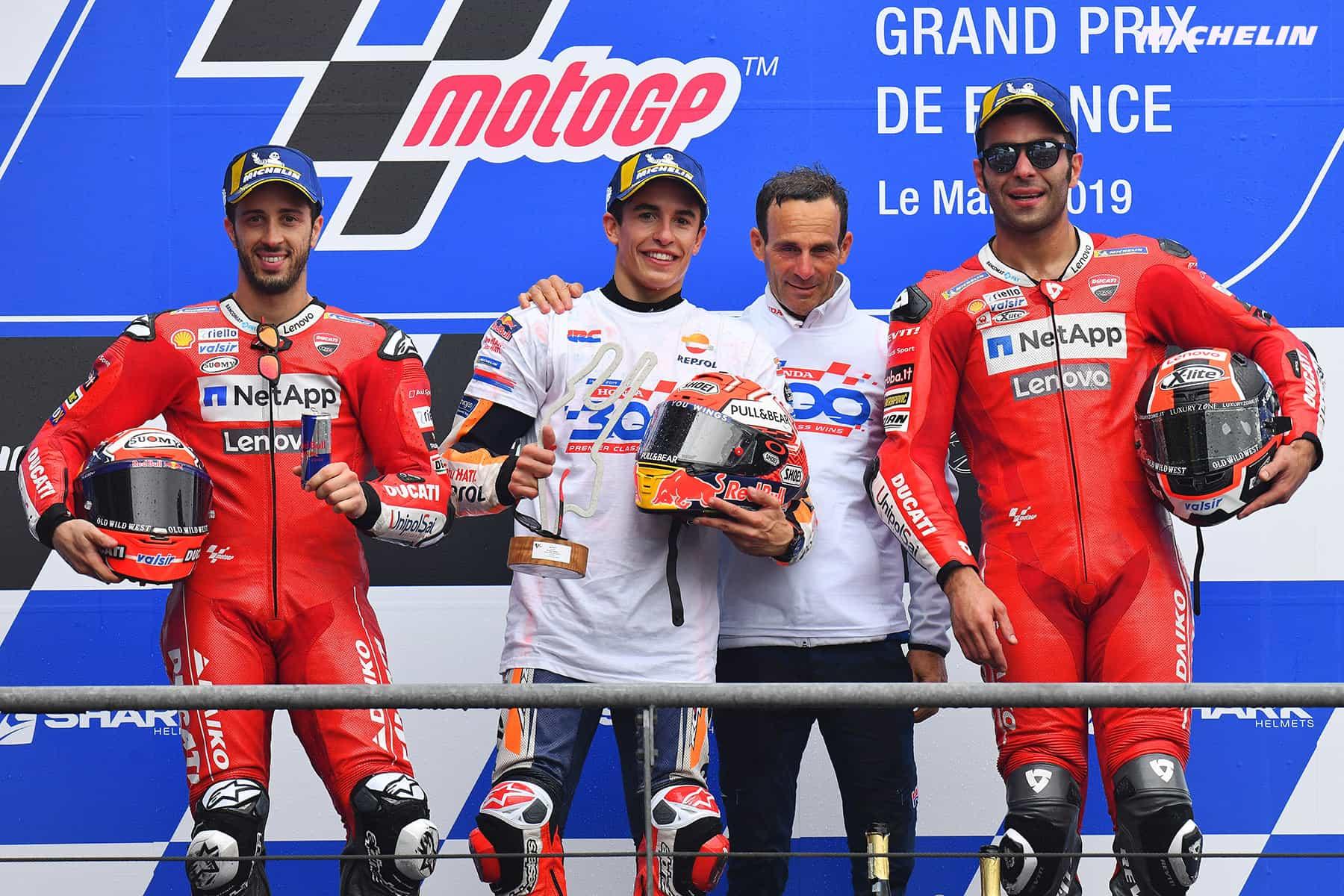 MotoGP2019フランスGP 優勝マルケス「異なるライディングスタイルを2つ、3つ使い分けている」