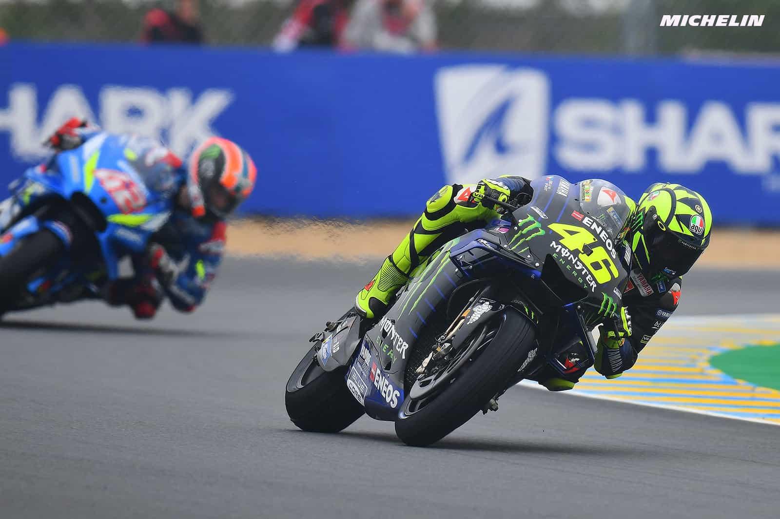 MotoGP2019フランスGP 5位ロッシ「コーナー立ち上がりで離されてしまう」