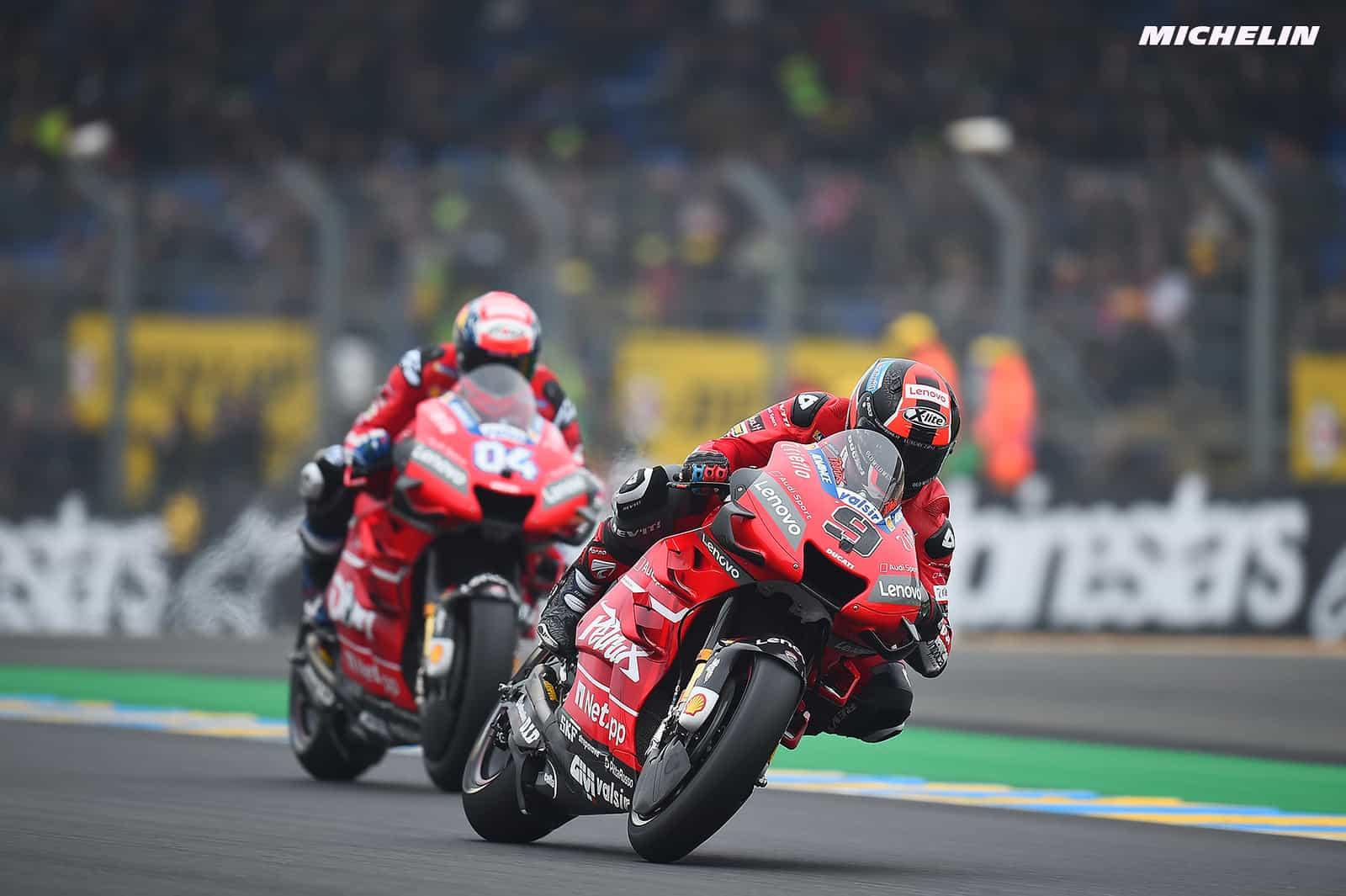 MotoGP2019フランスGP 3位ペトルッチ「高速コーナーのフィーリングが良いが、ドヴィのほうが立ち上がりが良い」