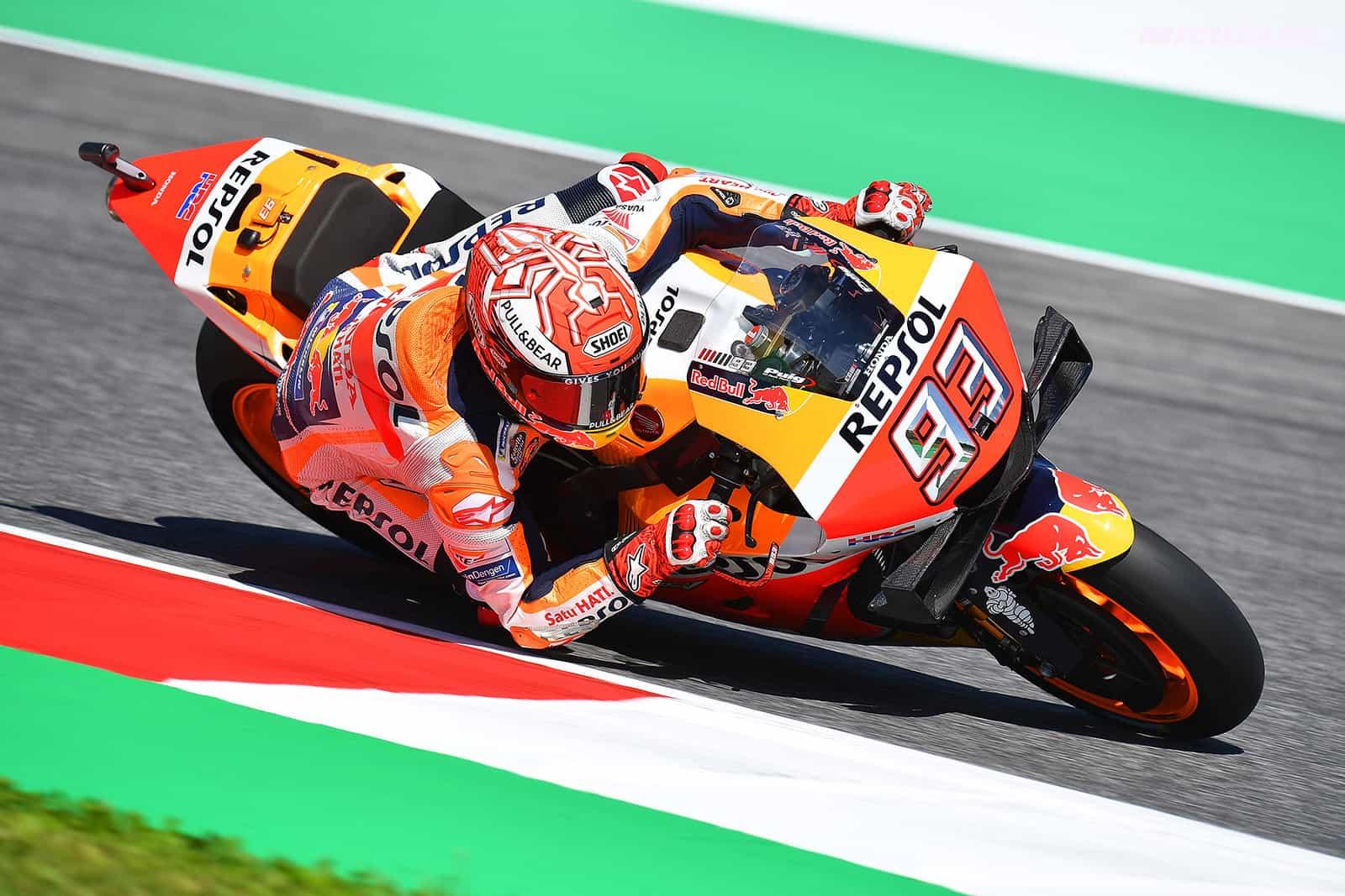 MotoGP2019イタリアGP マルケス「風邪をひいて新品タイヤを使用せずとも離されていない」