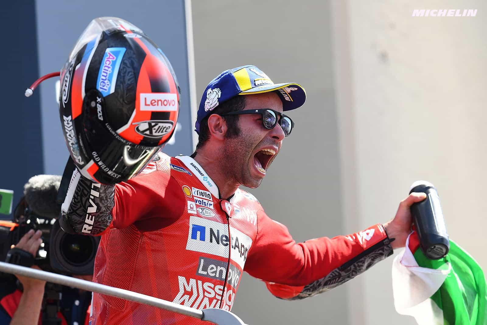 MotoGP2019イタリアGP 優勝ペトルッチ「今回の優勝はチームメイトのドヴィツィオーゾに捧げたい」