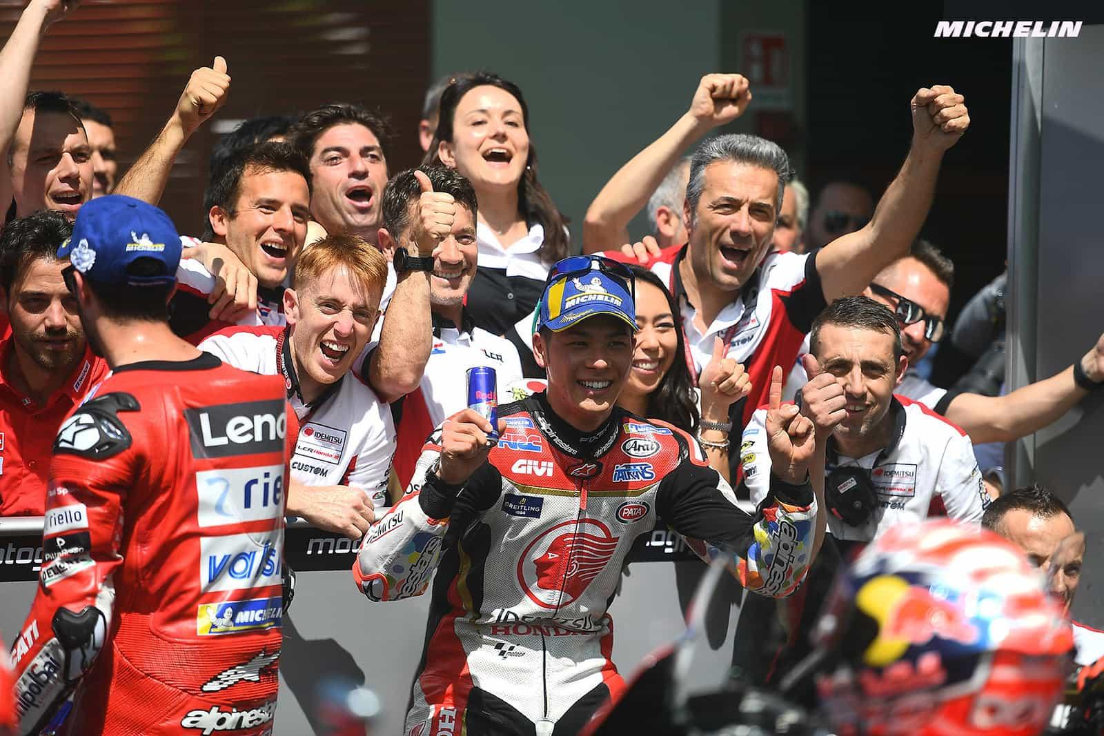 MotoGP2019イタリアGP5位 中上 貴晶 「素晴らしい1日になった」