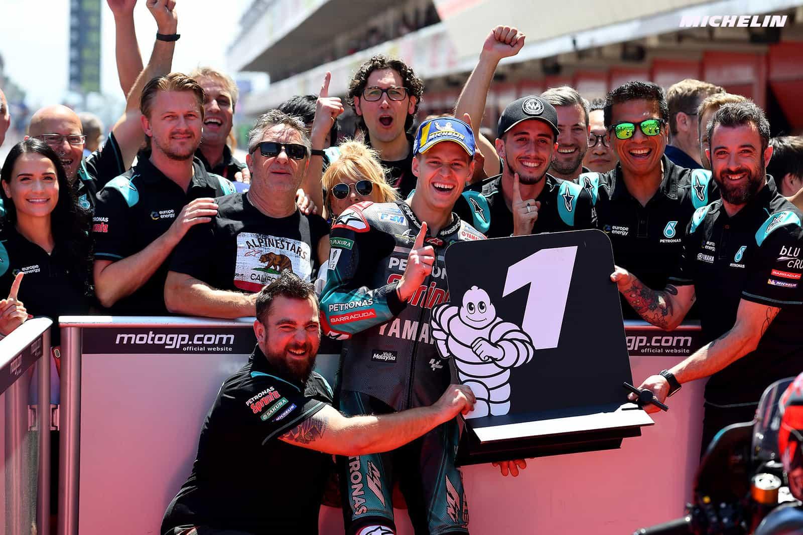MotoGP2019カタルーニャGP 予選1位ファビオ・クアルタラロ「レースでは出来る限りこの順位を維持したい」