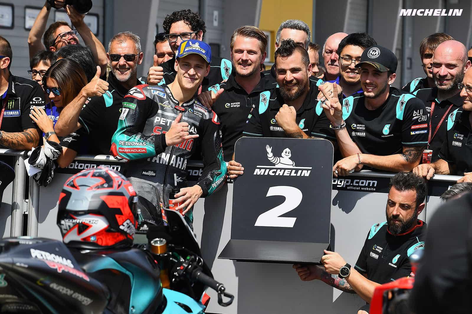 MotoGP2019ドイツGP 予選2位クアルタラロ「目標は2列目までを獲得することだった」