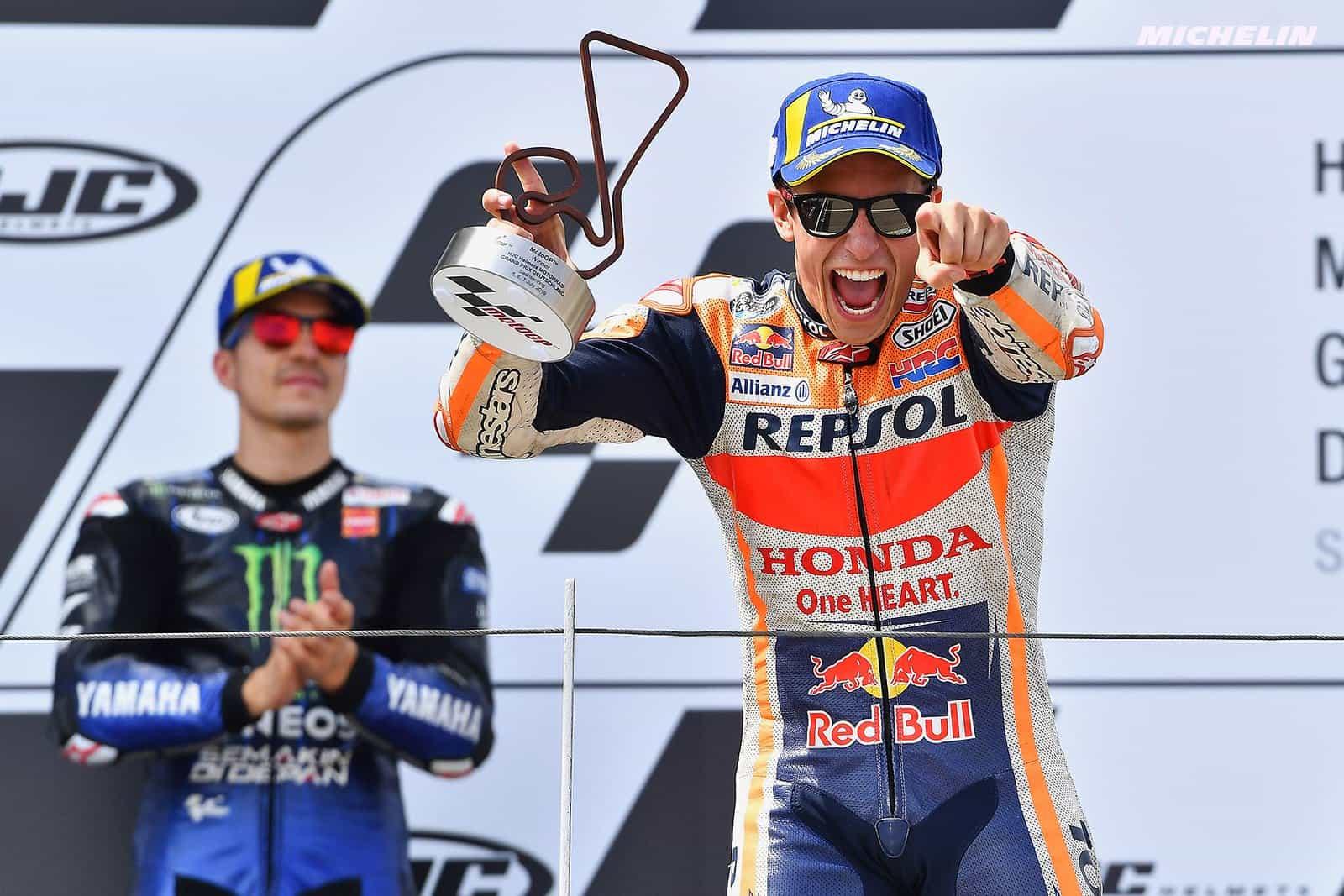MotoGP2019ドイツGP 優勝マルケス「今日プッシュしたのは10周くらい」