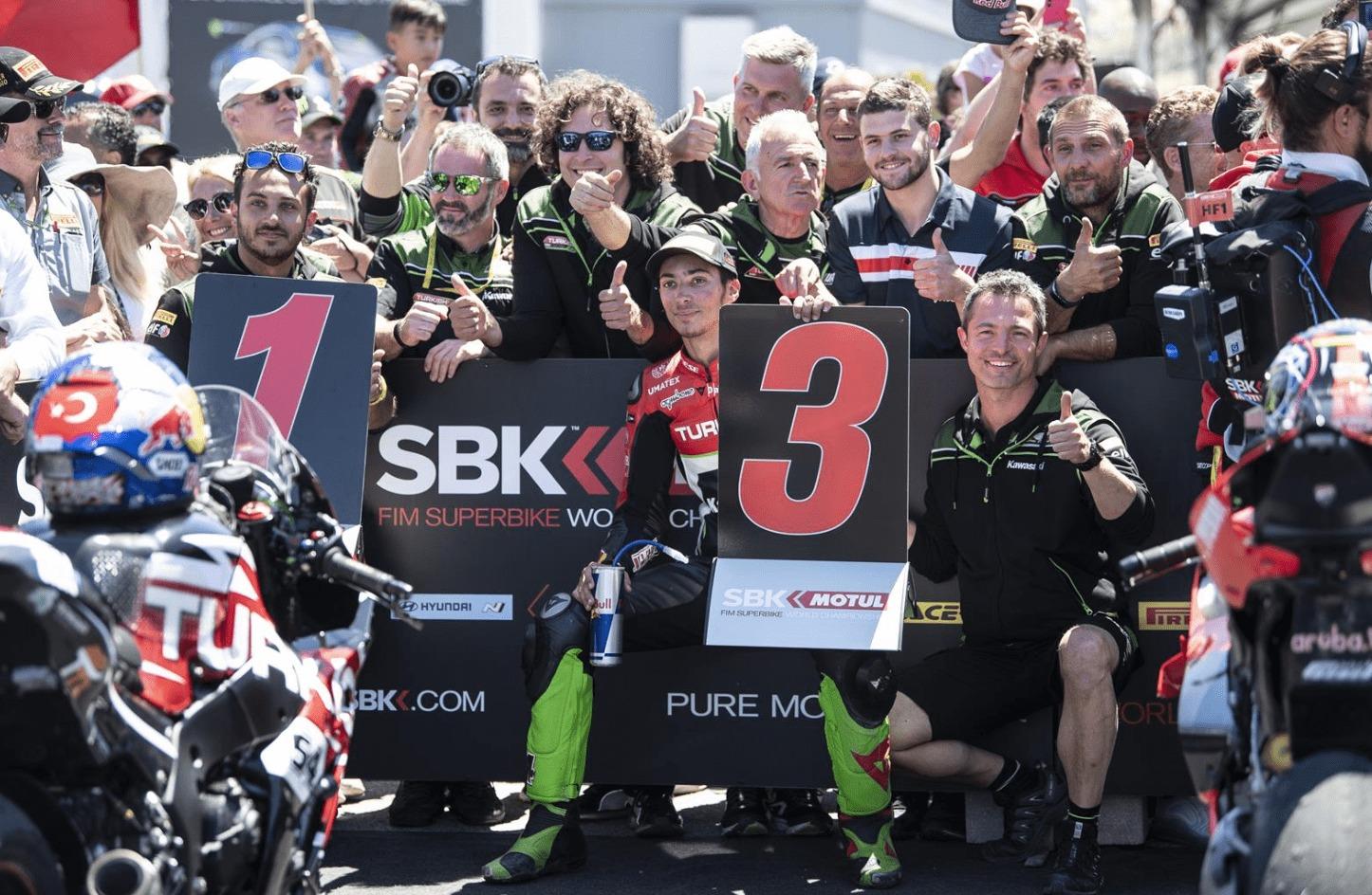 SBK第9戦ラグナ・セカ レース2 3位ラズガトリオグル「ラグナ・セカで表彰台は嬉しい結果」