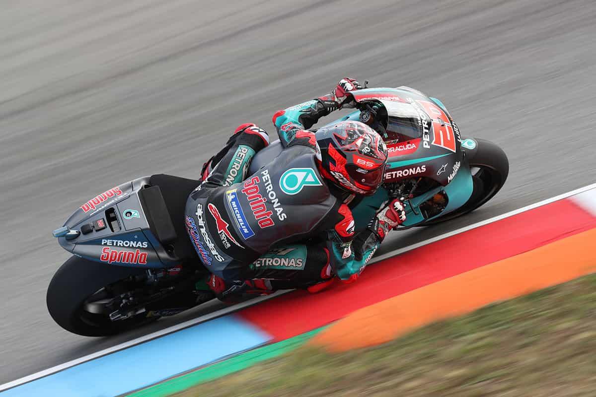 MotoGP2019ブルノテスト ファビオ・クアルタラロ「カーボンフォークだとバイクが軽い」