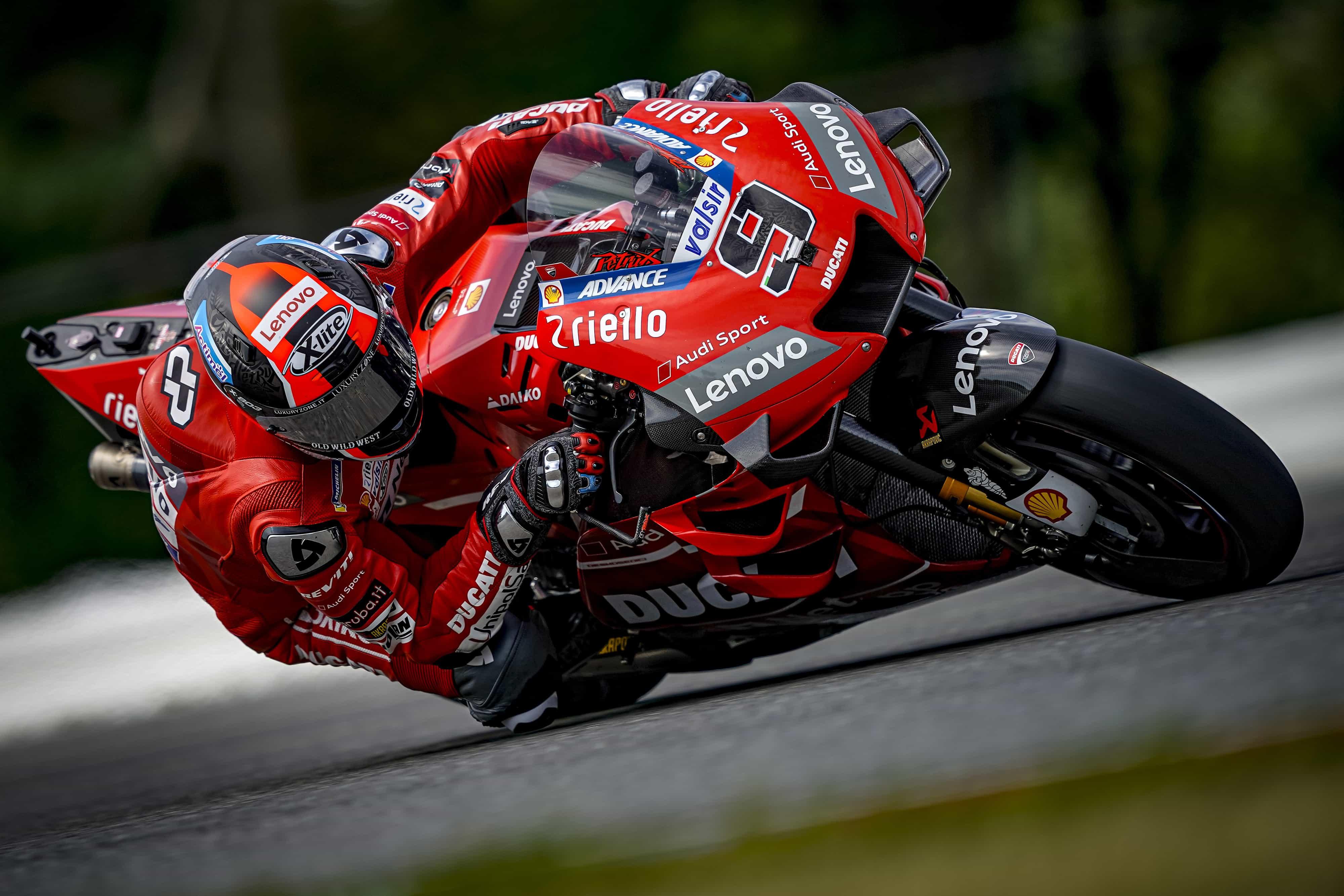 MotoGP2019ブルノテスト ペトルッチ「ターンインの部分で改善があった」