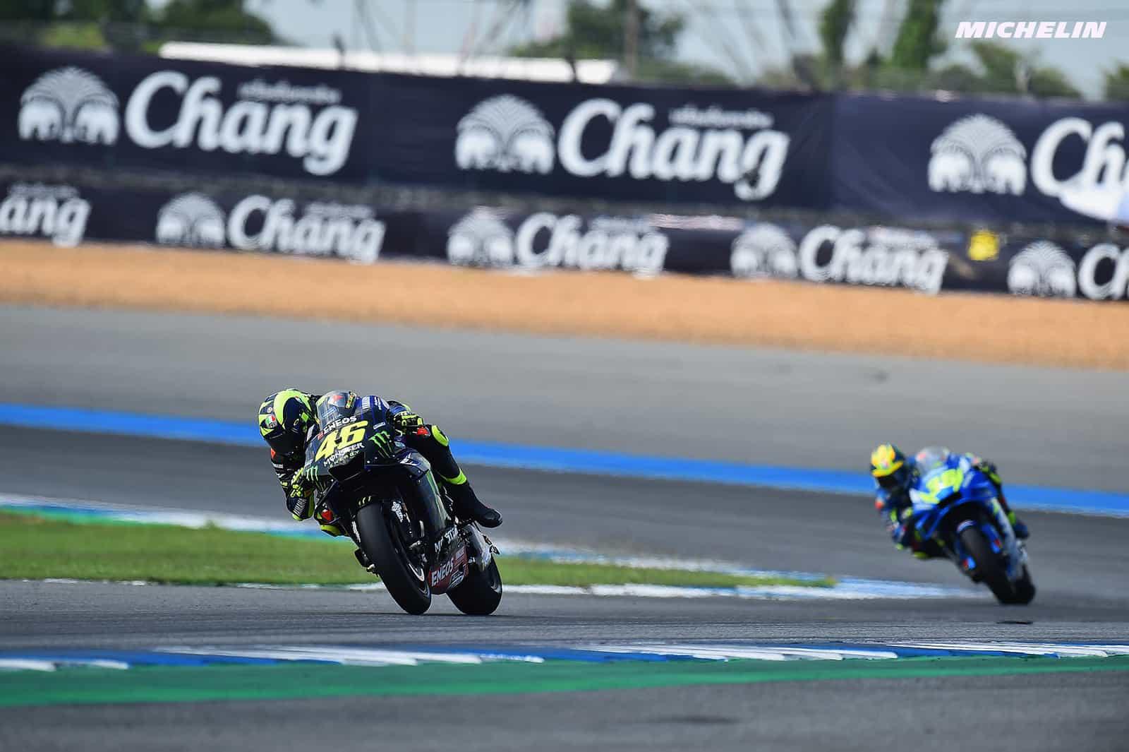 MotoGP2019タイGP 8位ロッシ「9周あたりでリアグリップが落ちてしまう」