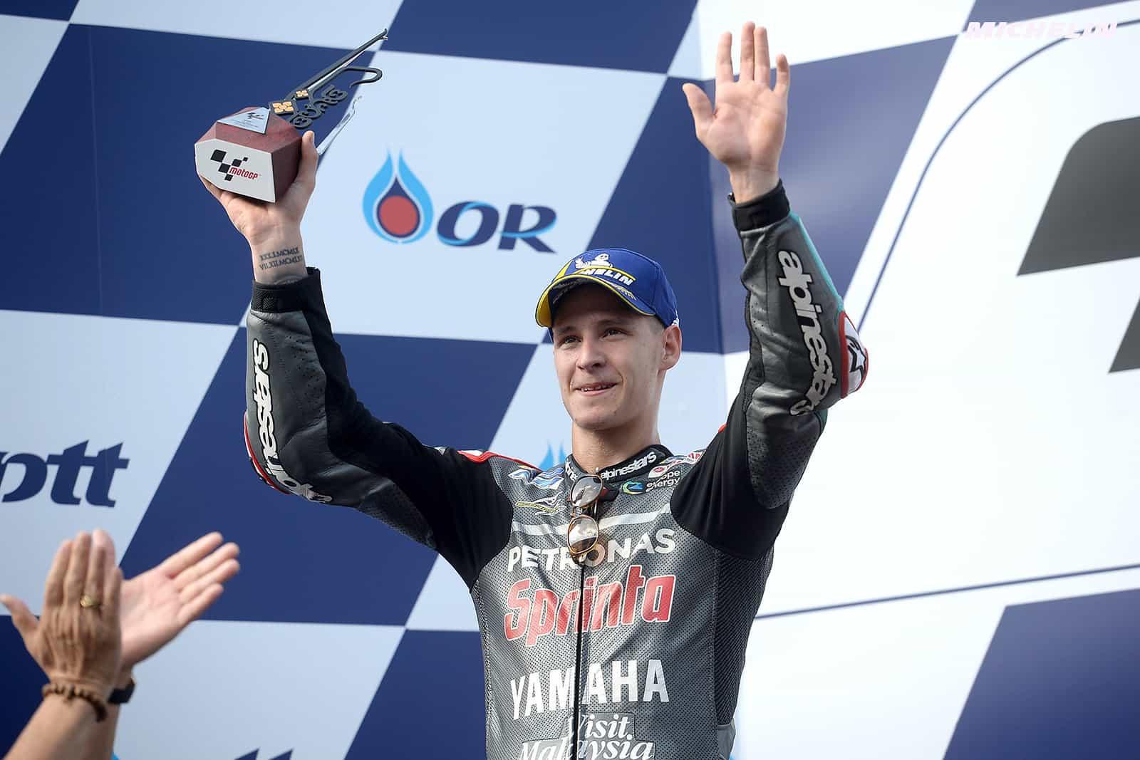 MotoGP2019タイGP 2位ファビオ・クアルタラロ「最後アタックしなければ日本まで寝れなかっただろう」