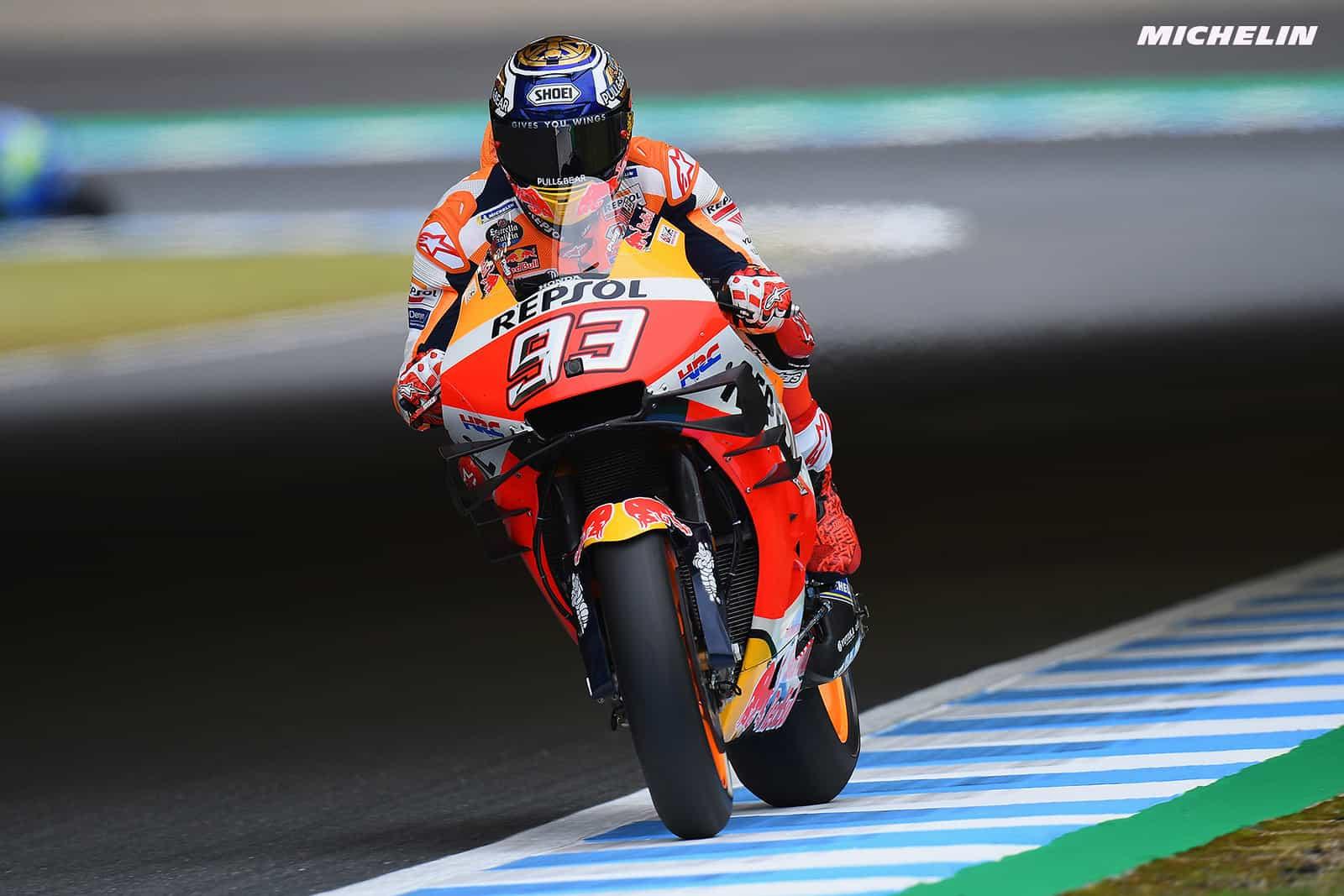 MotoGP2019日本GP 予選1位マルケス「ベストな状況ではないが優勝争いは出来る」