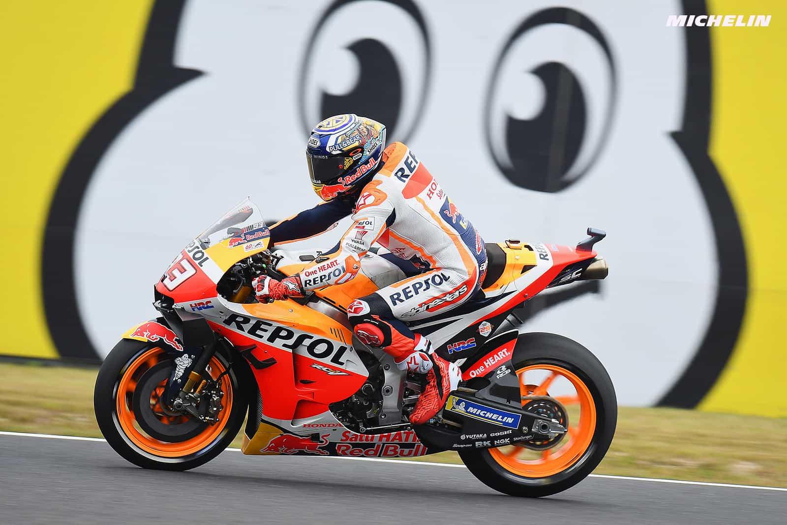 MotoGP2019日本GP FP2 3位マルケス「ベストと言えるFP2ではなかった」