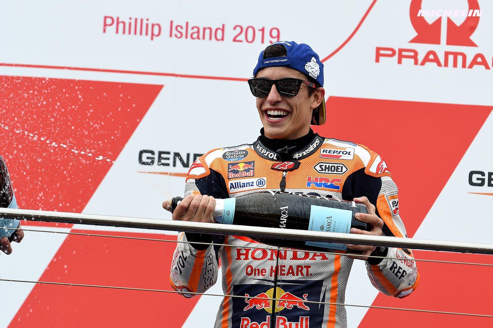 MotoGP2019オーストラリアGP 優勝マルケス「マーべリックがターン10で仕掛けてくるのはわかっていた」
