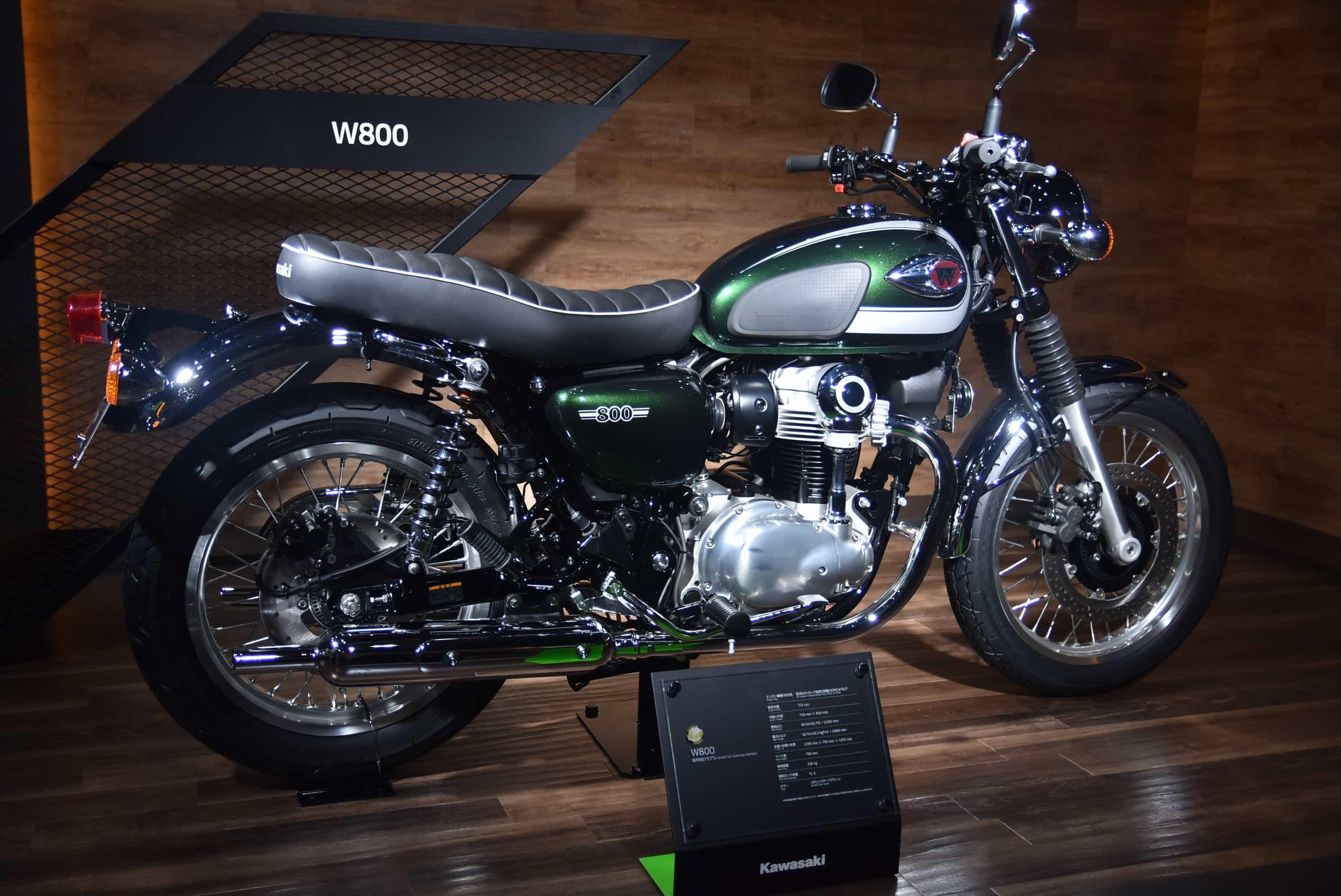 カワサキ 東京モーターショーでW800を発表