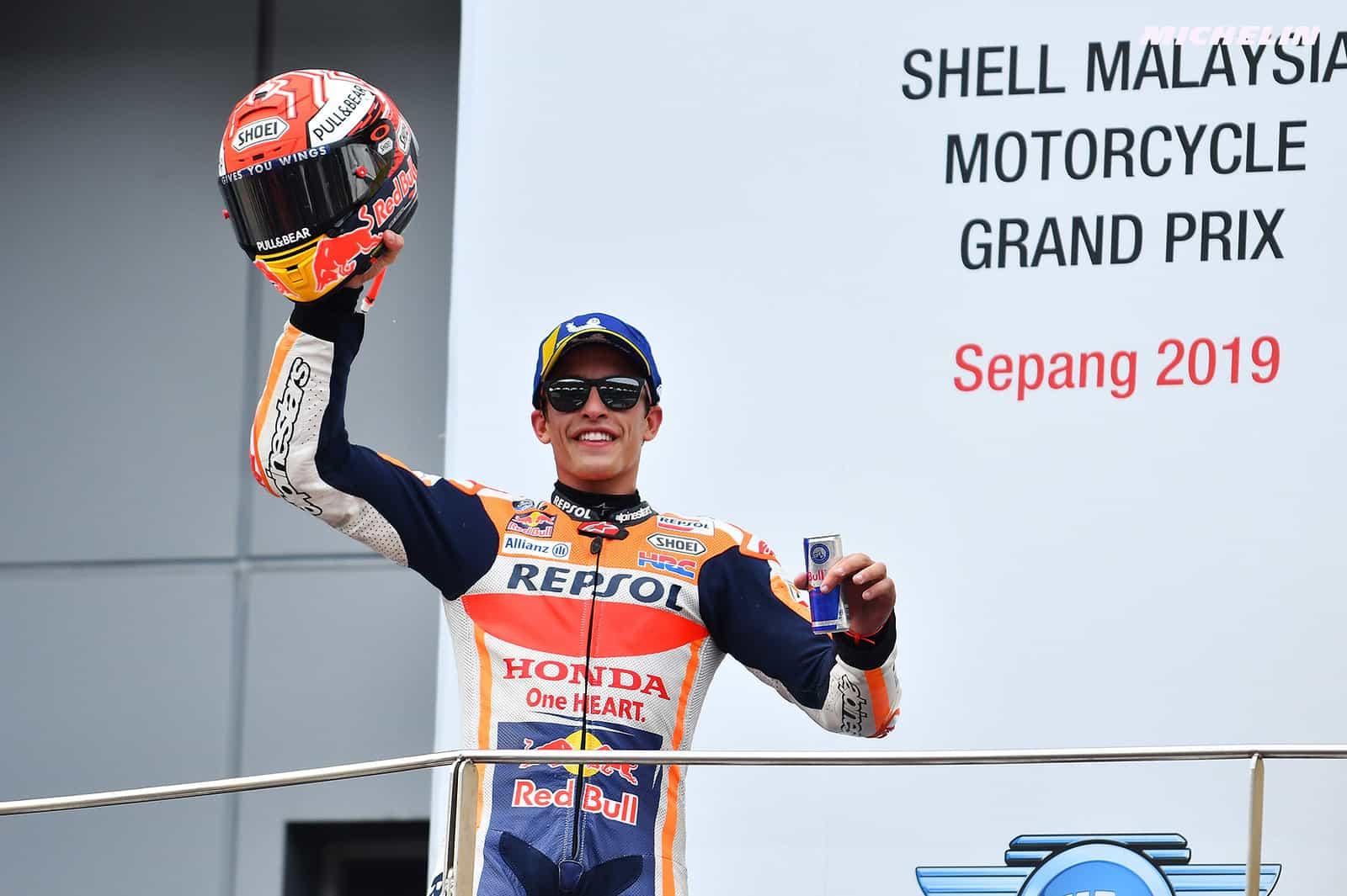 MotoGP2019マレーシアGP 2位マルケス「なんとしても表彰台を獲得したかった」