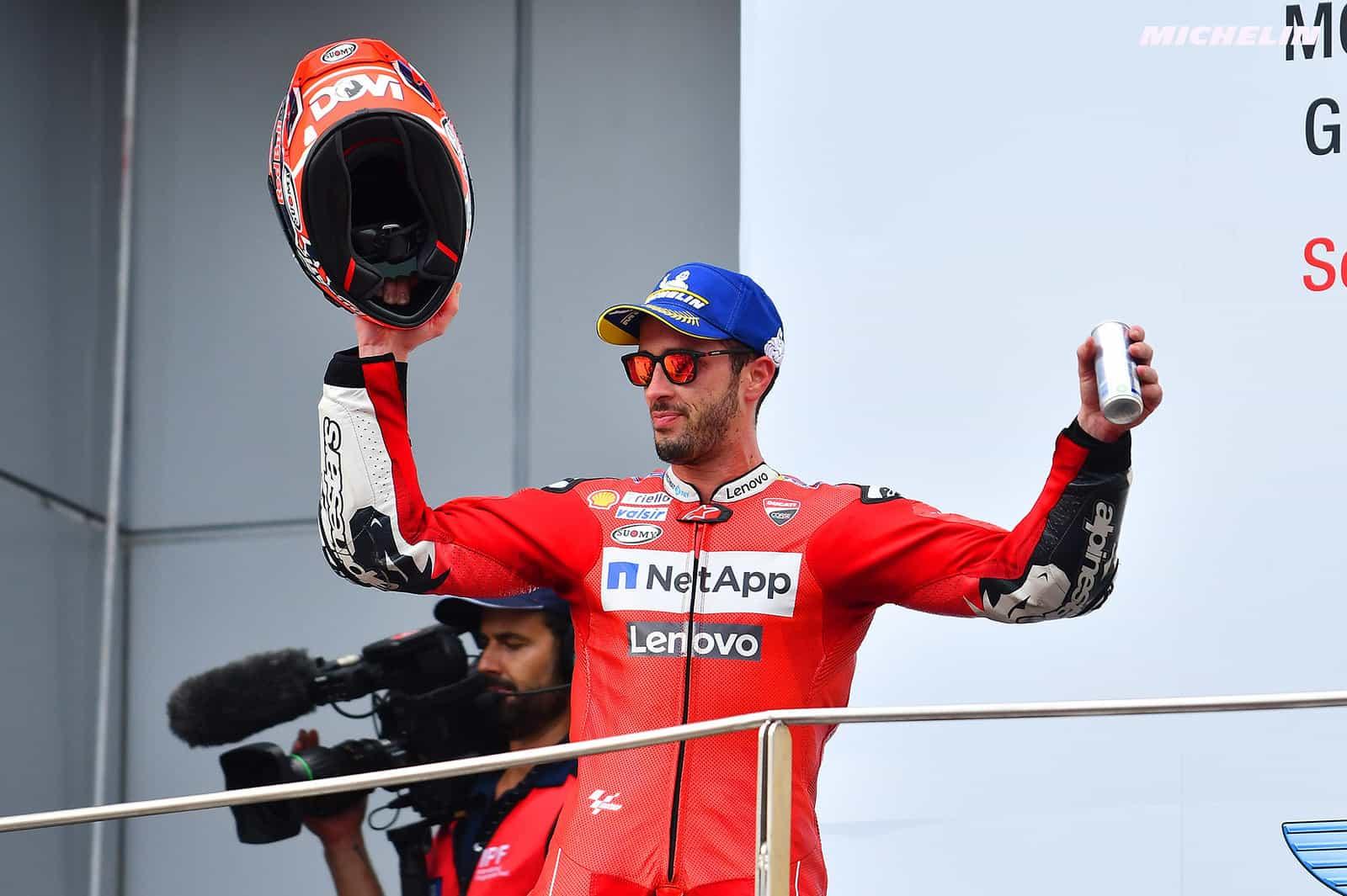 MotoGP2019マレーシアGP 3位ドヴィツィオーゾ「今日はバイクのスピードに助けられた」