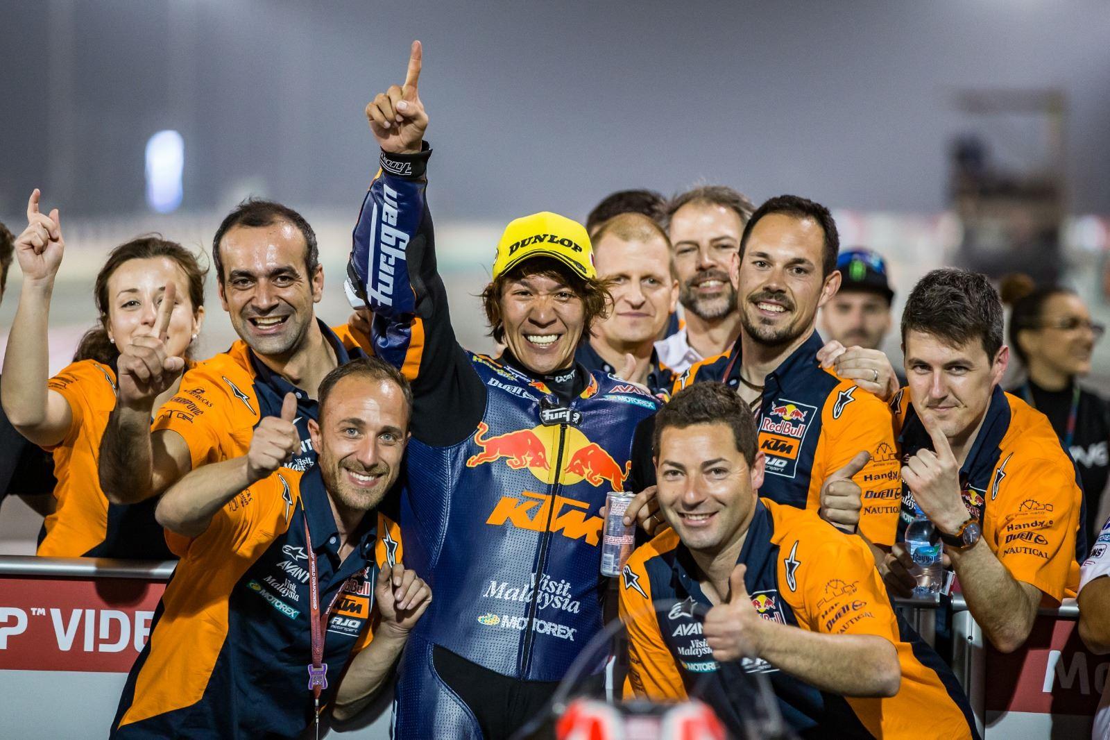 Moto2 2020カタールGP 優勝 長島「今まで支えてくれた家族とチームに感謝」