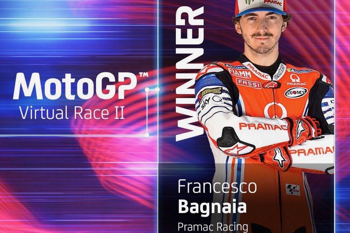 バーチャルレース レース2 優勝フランセスコ・バグナイア「マーべリックとのバトルは面白かった」