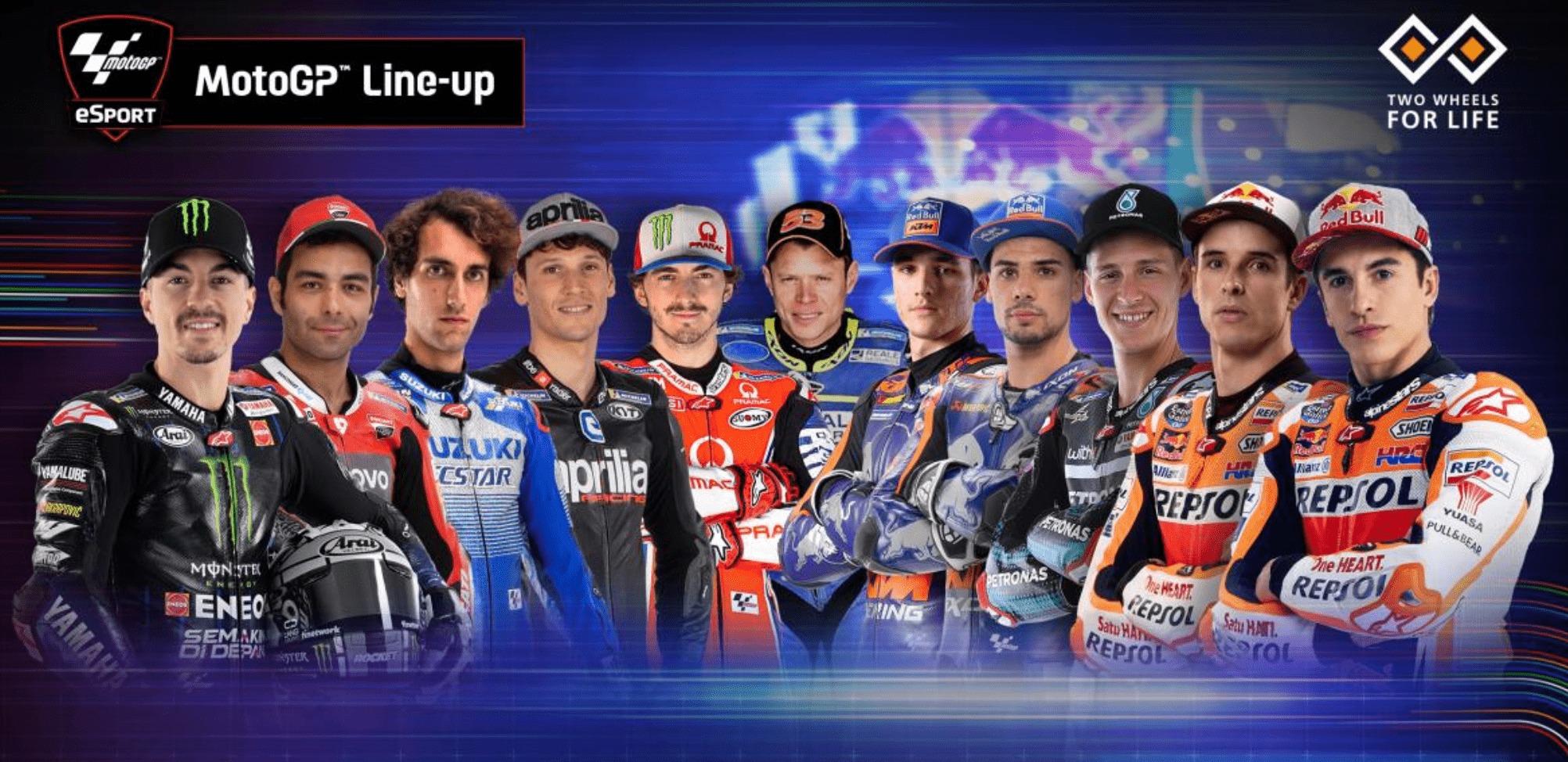 MotoGPバーチャルレース レース3に出場する3クラスのライダーラインナップが決定