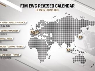 改訂版 FIM世界耐久選手権2019-2020年カレンダー