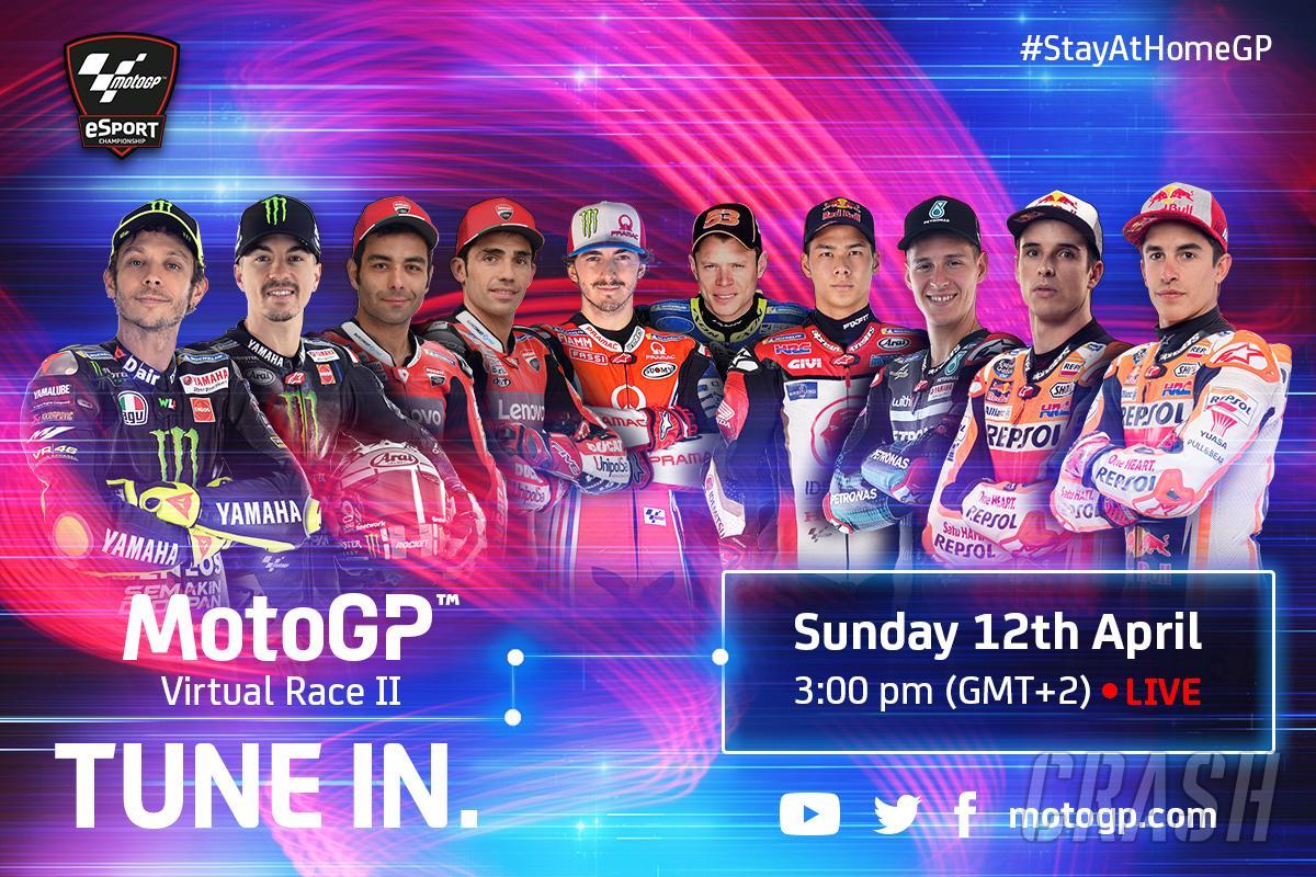 MotoGP 4月12日(日)22時にバーチャルレース第2戦を開催