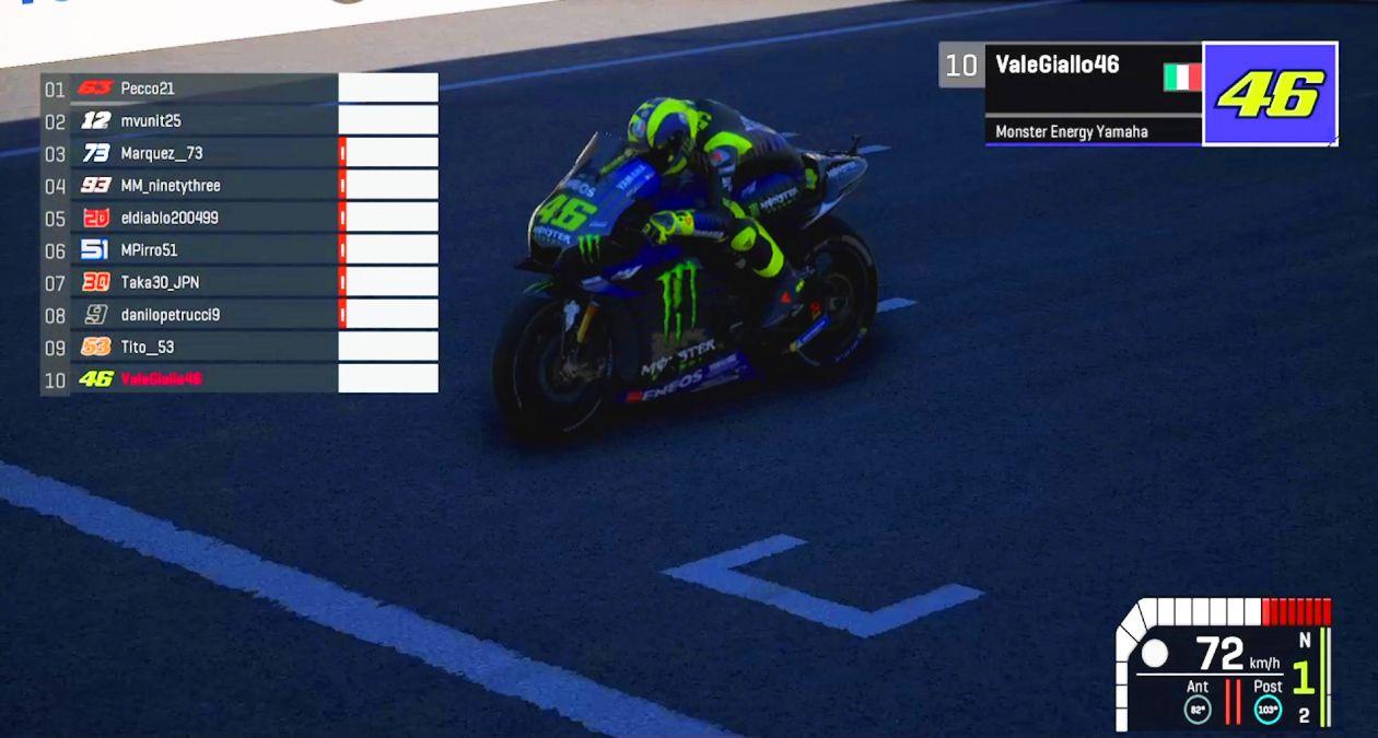 バーチャルレース レース2 7位バレンティーノ・ロッシ「レースゲームなら車のほうが得意」