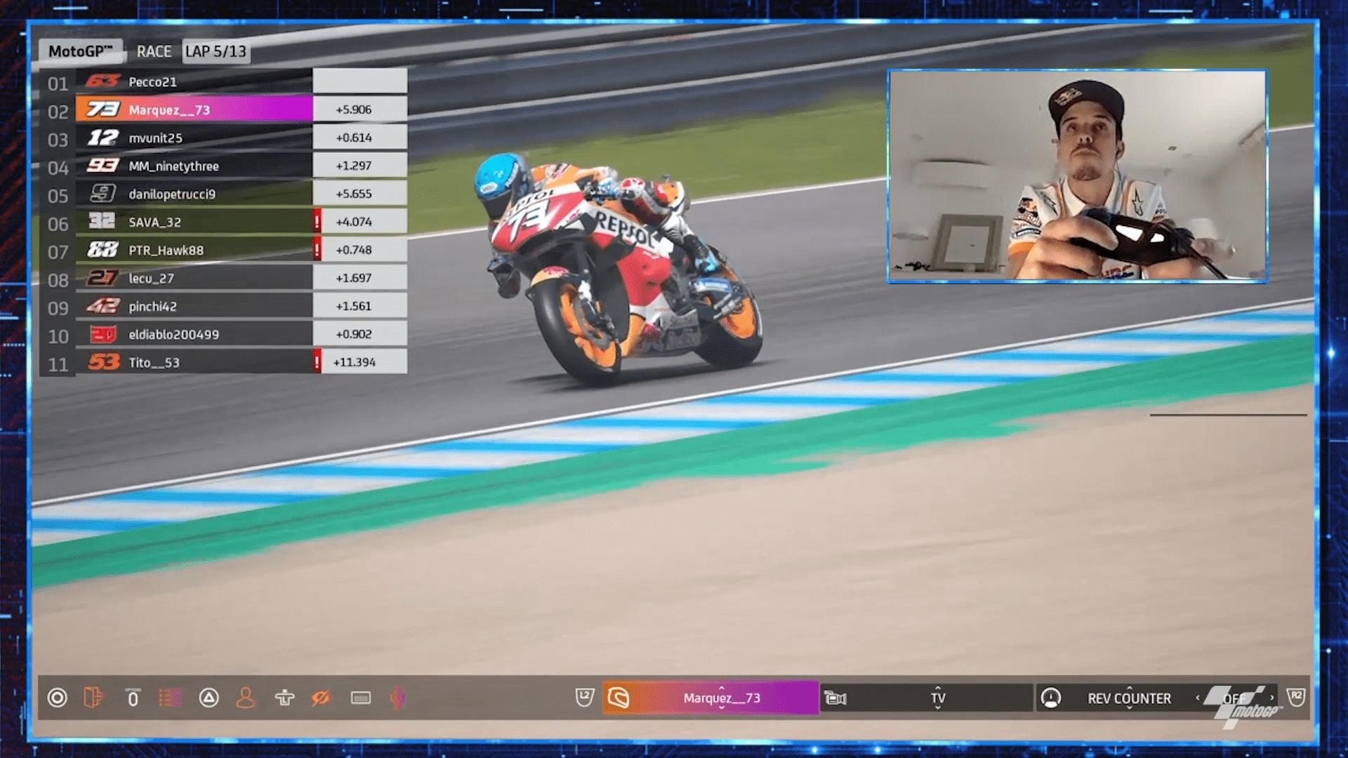 MotoGPバーチャルレース3 アレックス・マルケス「ファンのために面白いレースが出来た」