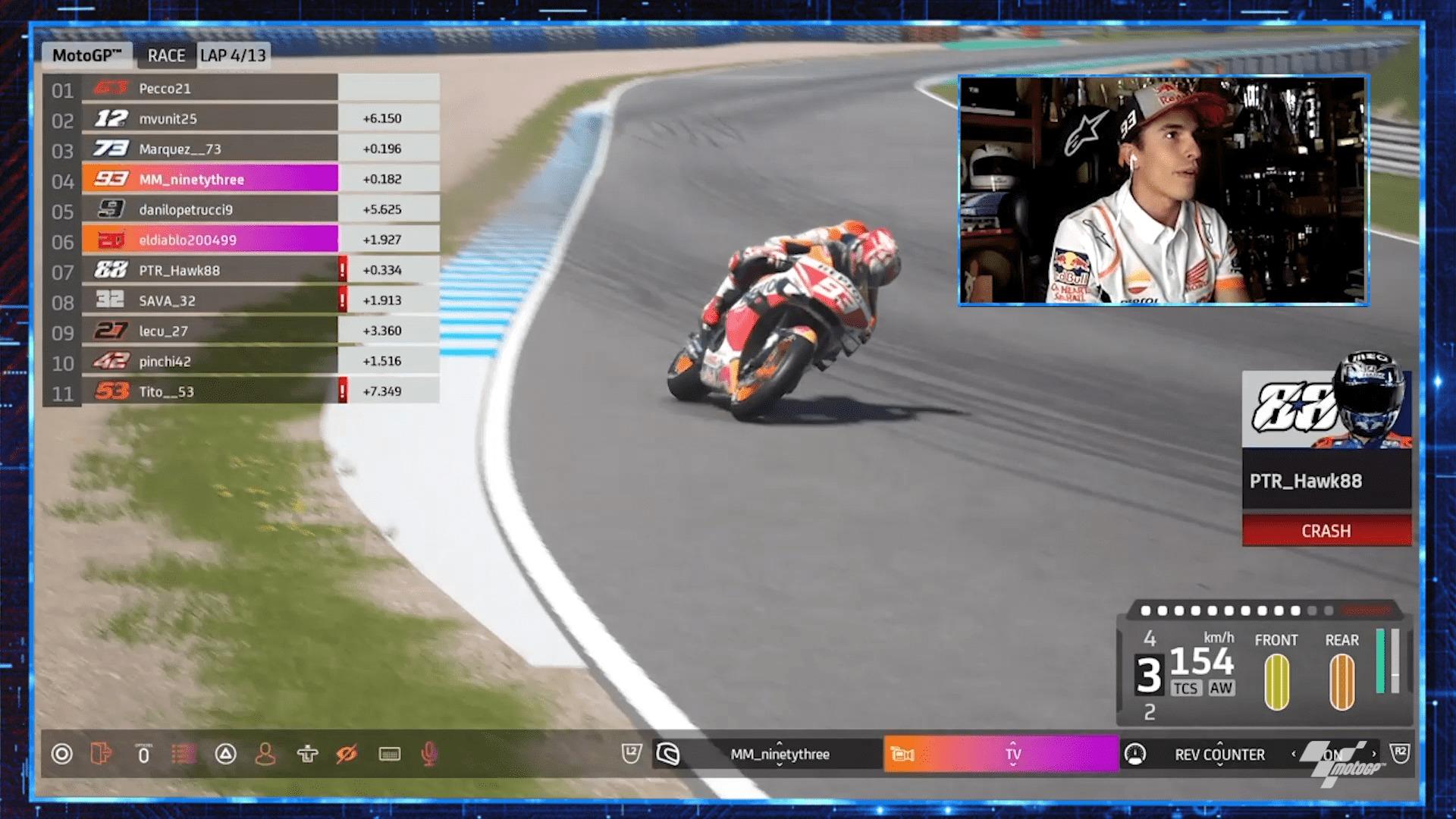 MotoGPバーチャルレース3 4位マルク・マルケス「もう少し練習すれば上手になるはず」