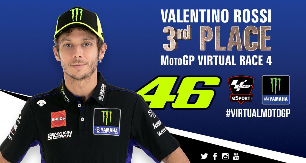 バーチャルレース4 バレンティーノ・ロッシ「バーチャルレースでの初表彰台は嬉しい」