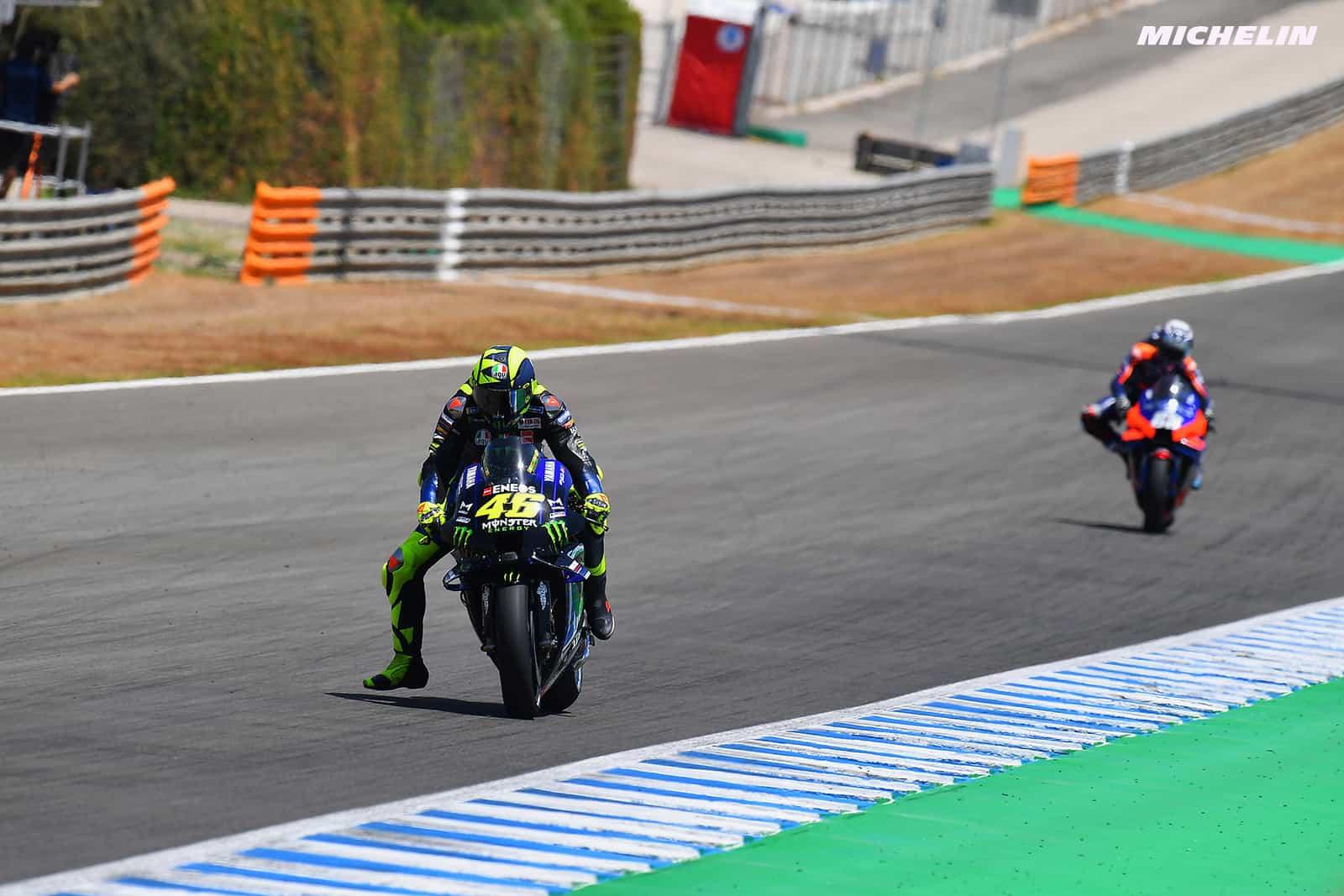 スペインGP バレンティーノ・ロッシ「警告灯が点灯したためバイクを停止させた」