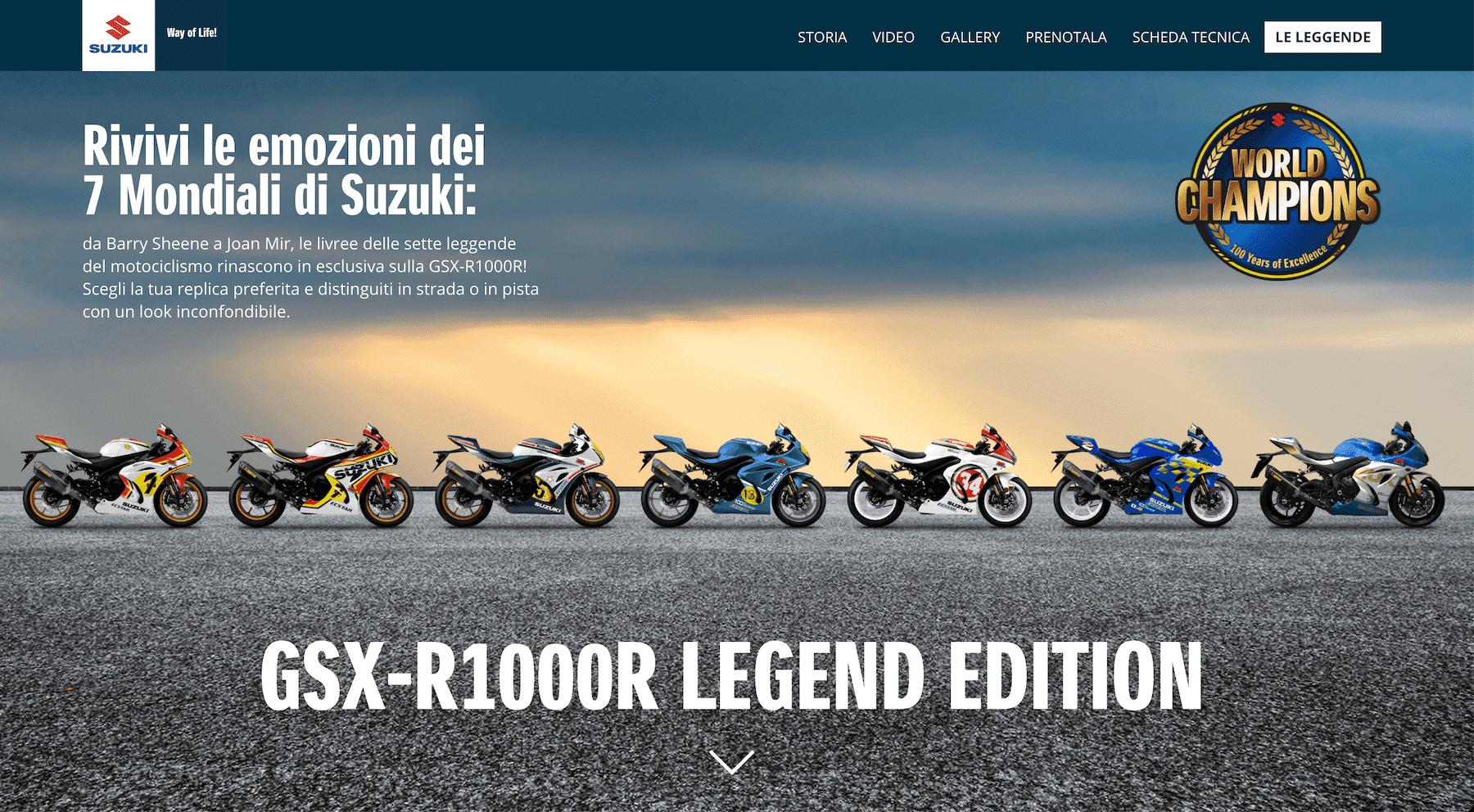 スズキ 欧州限定で往年のチャンピオン特別カラーを採用したGSX-R1000R LEGEND EDITIONを予約発売
