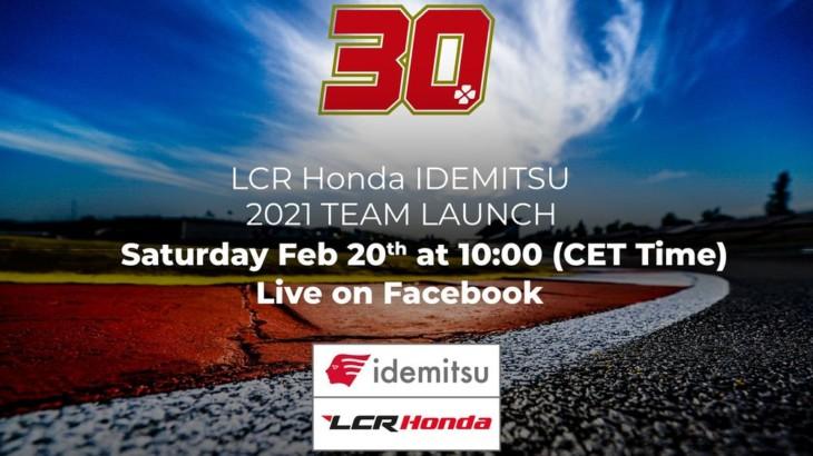 LCRホンダ 2021年のチーム体制発表(オンラインチームローンチ)を2月19日、20日に開催