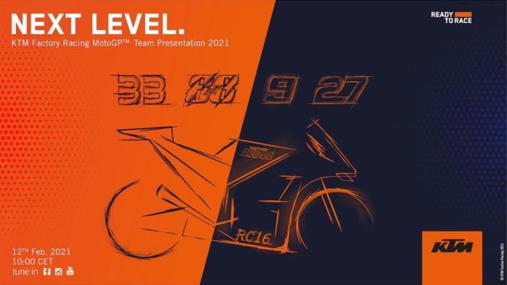 KTM 2021年のチーム体制発表(オンラインチームローンチ)を2月12日に開催