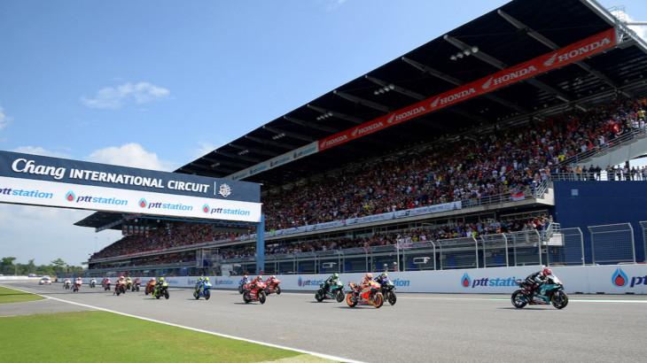 MotoGP第16戦が予定されていたタイGPの中止の見通し