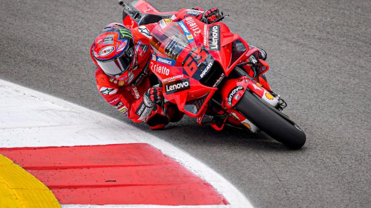 ポルトガルGP 初日1位フランセスコ・バグナイア「コンディションは良くないが最速タイムを記録できた」