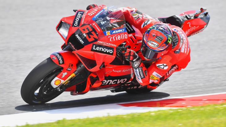 MotoGP2021イタリアGP 初日総合1位フランセスコ・バグナイア「セッティングとフィーリングを改善出来た」