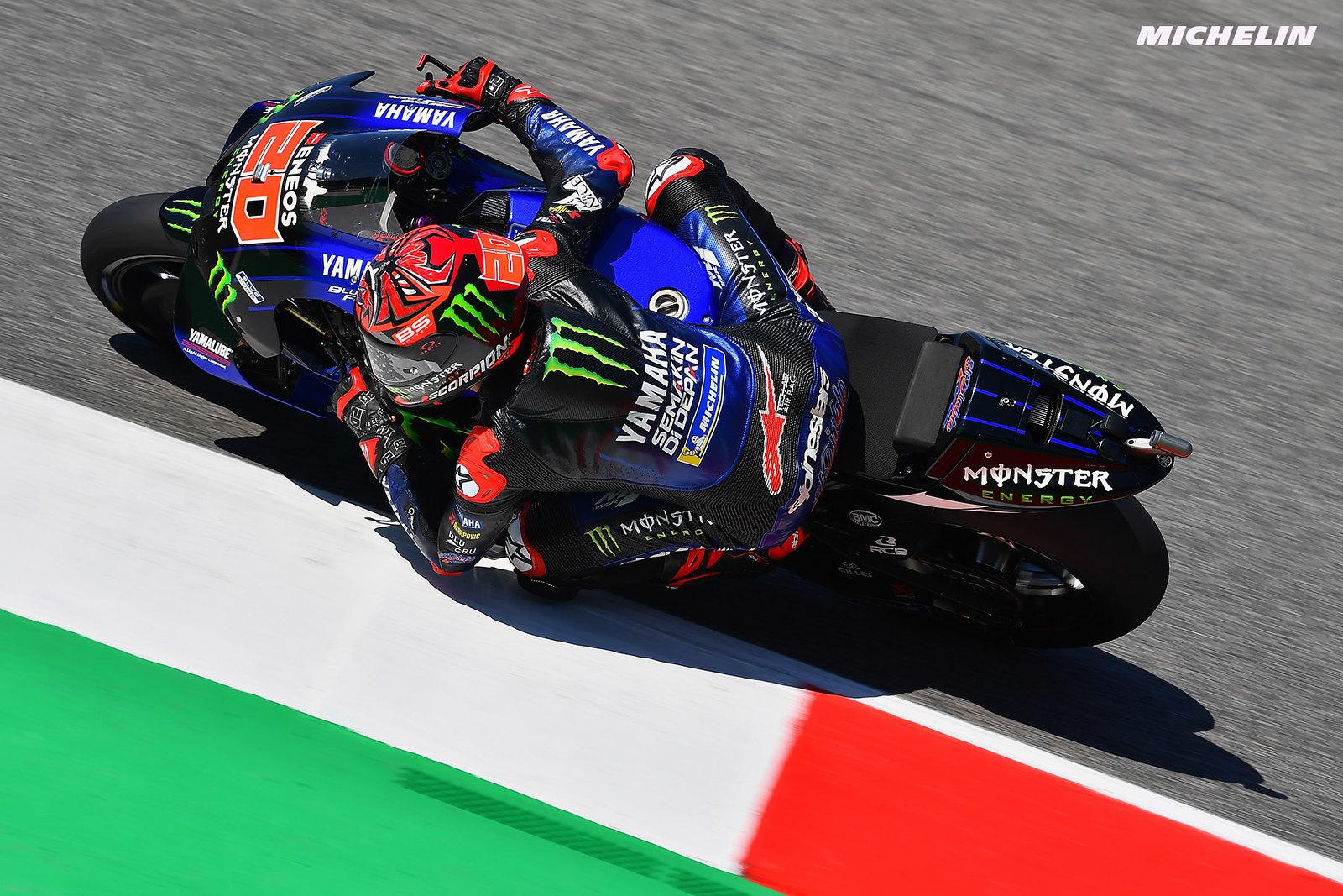 MotoGP2021イタリアGP 初日総合4位 ファビオ・クアルタラロ「ミディアムで走り込んでみようと思う」