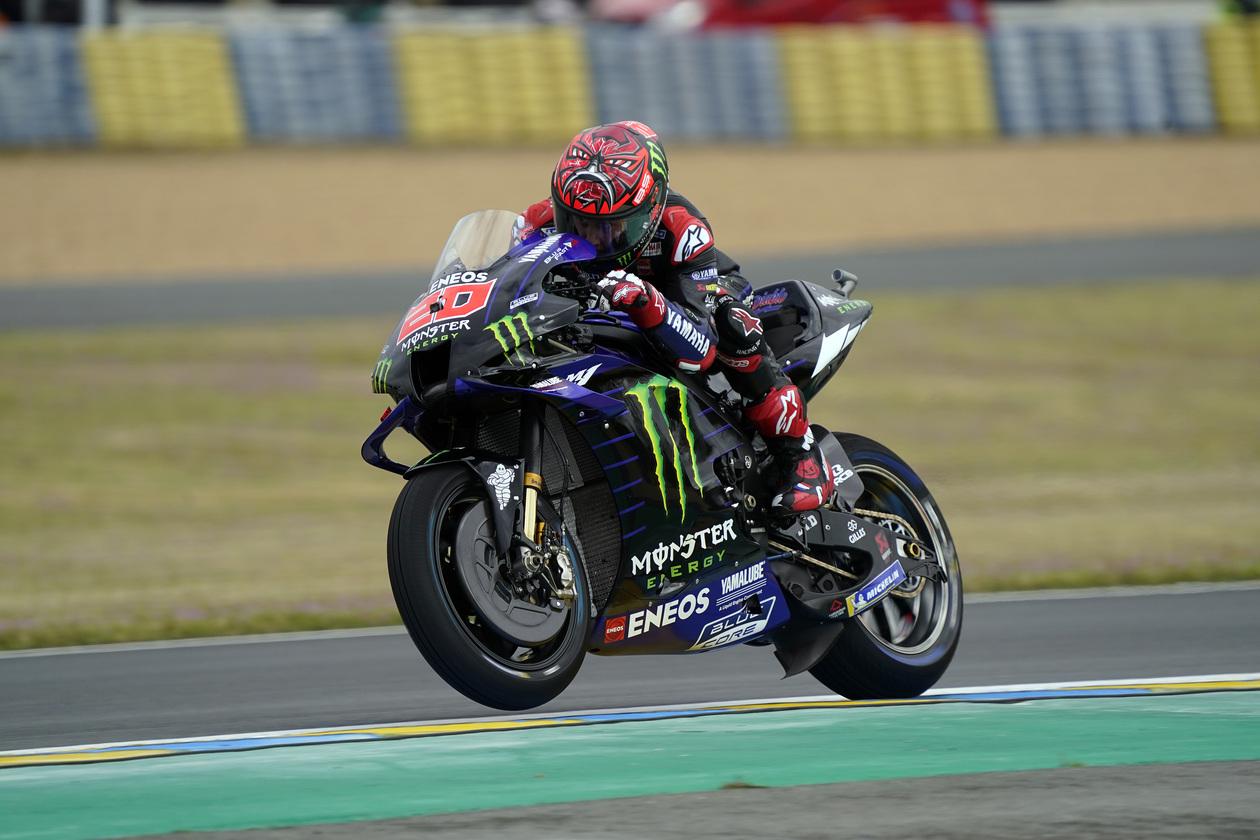 フランスGP 初日総合2位 ファビオ・クアルタラロ「腕にはまだ違和感を感じる」