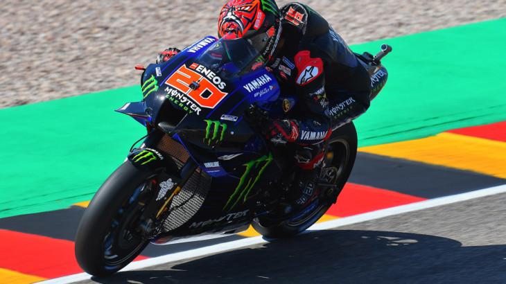 MotoGP2021 ドイツGP 初日総合2位 ファビオ・クアルタラロ「ソフトタイヤのポテンシャルを発揮出来なかった」
